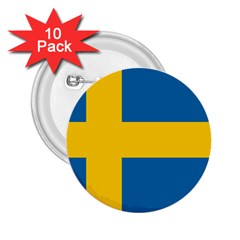 Flag of Sweden 2.25  Buttons (10 pack)