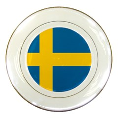 Flag Of Sweden Porcelain Plates