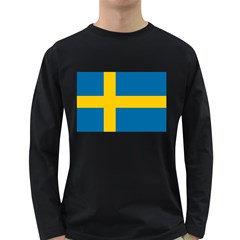 Flag Of Sweden Long Sleeve Dark T Shirts