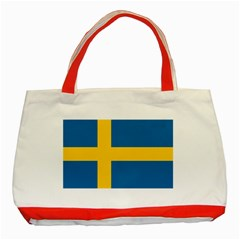 Flag of Sweden Classic Tote Bag (Red)