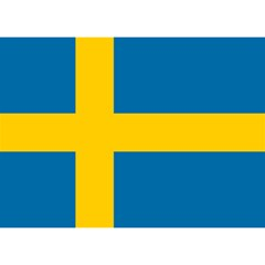 Flag of Sweden Birthday Cake 3D Greeting Card (7x5)