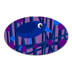 Purple bird Oval Magnet