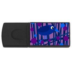 Purple bird USB Flash Drive Rectangular (2 GB)