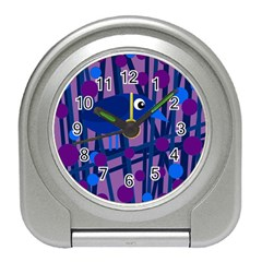 Purple bird Travel Alarm Clocks