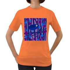 Purple bird Women s Dark T-Shirt