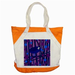 Purple bird Accent Tote Bag
