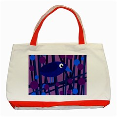 Purple bird Classic Tote Bag (Red)