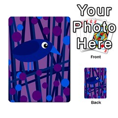 Purple bird Multi-purpose Cards (Rectangle)