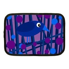 Purple bird Netbook Case (Medium)