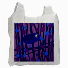 Purple bird Recycle Bag (One Side)