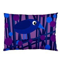 Purple bird Pillow Case (Two Sides)