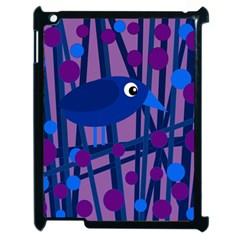 Purple bird Apple iPad 2 Case (Black)