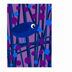 Purple bird Large Garden Flag (Two Sides)