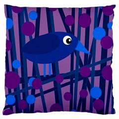 Purple bird Large Cushion Case (One Side)