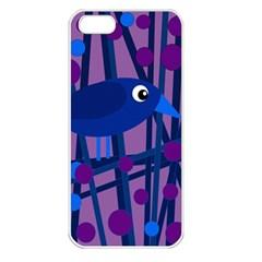 Purple bird Apple iPhone 5 Seamless Case (White)