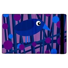 Purple bird Apple iPad 3/4 Flip Case