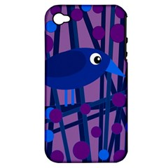 Purple bird Apple iPhone 4/4S Hardshell Case (PC+Silicone)
