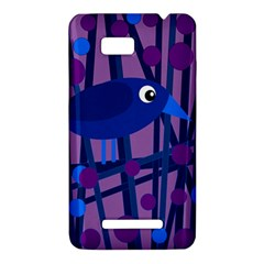 Purple bird HTC One SU T528W Hardshell Case