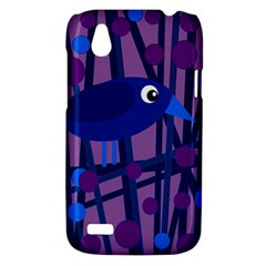 Purple bird HTC Desire V (T328W) Hardshell Case