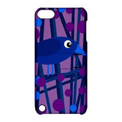 Purple bird Apple iPod Touch 5 Hardshell Case with Stand