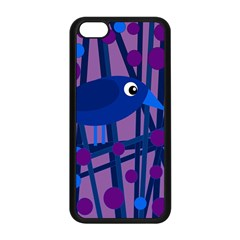 Purple bird Apple iPhone 5C Seamless Case (Black)