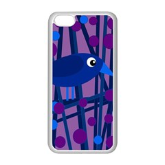 Purple bird Apple iPhone 5C Seamless Case (White)
