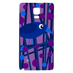 Purple bird Galaxy Note 4 Back Case