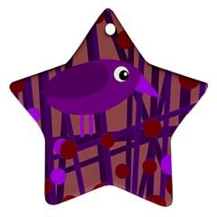 Sweet purple bird Ornament (Star)