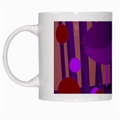 Sweet purple bird White Mugs