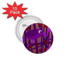 Sweet purple bird 1.75  Buttons (10 pack)