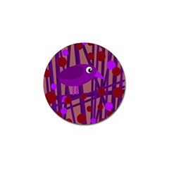 Sweet purple bird Golf Ball Marker (4 pack)
