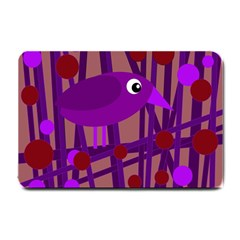 Sweet purple bird Small Doormat