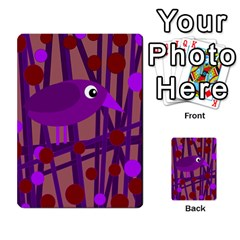 Sweet purple bird Multi-purpose Cards (Rectangle)