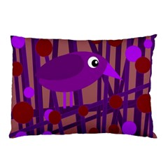 Sweet purple bird Pillow Case