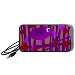 Sweet purple bird Portable Speaker (Black)