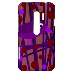 Sweet purple bird HTC Evo 3D Hardshell Case