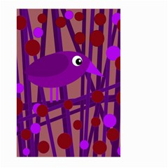 Sweet purple bird Large Garden Flag (Two Sides)