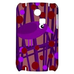 Sweet purple bird Samsung S3350 Hardshell Case