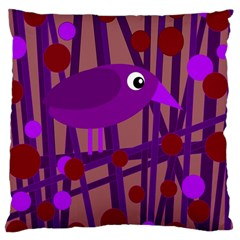 Sweet purple bird Large Cushion Case (One Side)