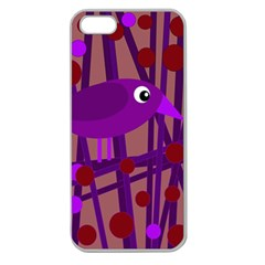 Sweet purple bird Apple Seamless iPhone 5 Case (Clear)