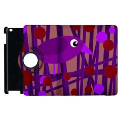 Sweet purple bird Apple iPad 2 Flip 360 Case