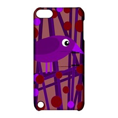 Sweet purple bird Apple iPod Touch 5 Hardshell Case with Stand