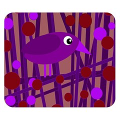 Sweet purple bird Double Sided Flano Blanket (Small)