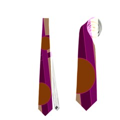 Cute magenta bird Neckties (Two Side)