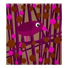 Cute magenta bird Shower Curtain 66  x 72  (Large)