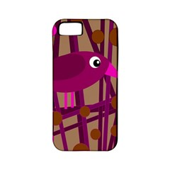 Cute magenta bird Apple iPhone 5 Classic Hardshell Case (PC+Silicone)