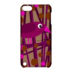 Cute magenta bird Apple iPod Touch 5 Hardshell Case with Stand
