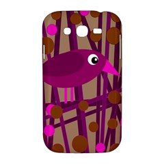 Cute magenta bird Samsung Galaxy Grand DUOS I9082 Hardshell Case
