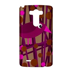 Cute magenta bird LG G3 Hardshell Case