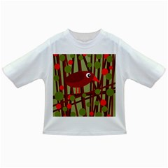 Red cute bird Infant/Toddler T-Shirts